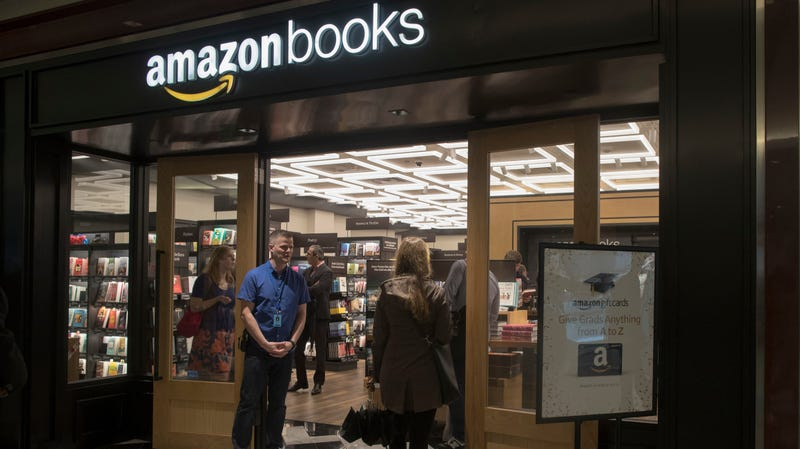 An Amazon Books retail store in New York's Warner Center at Columbus Circle.