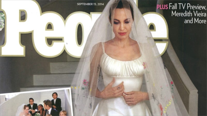 Illustration for article titled Brad and Angelina's People Magazine Wedding Cover Story Is Here