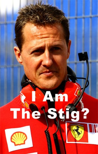 Illustration for article titled The Stig Is Michael Schumacher?