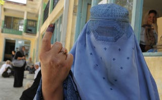 Illustration for article titled Female Voters Threatened, Intimidated In Afghanistan Election