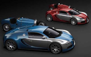 Illustration for article titled Bugatti Veyron 16.4 Centenaire: A Rainbow Of Silly