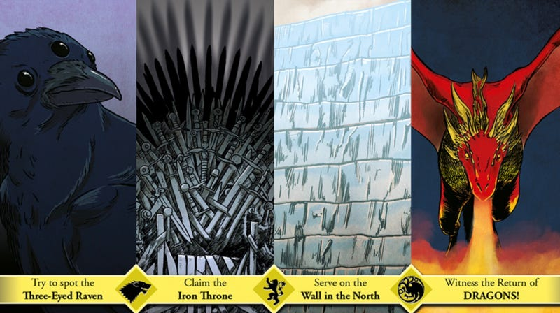 """Crop of a postcard called """"Come to Westeros"""" by Keith Noordzy."""