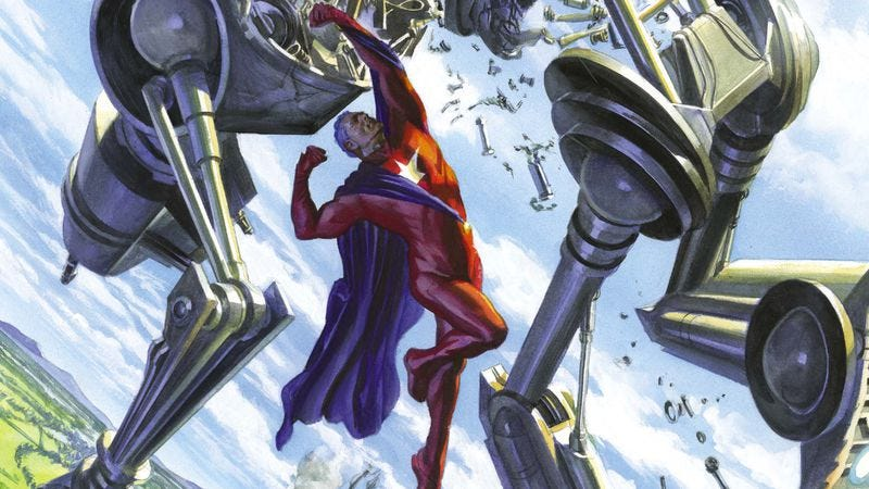 Illustration for article titled Exclusive DC preview: Astro City #14 takes a trip to a superhero robot junkyard