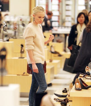 Illustration for article titled Shoe Shopping With Kate Bosworth Is Serious Business