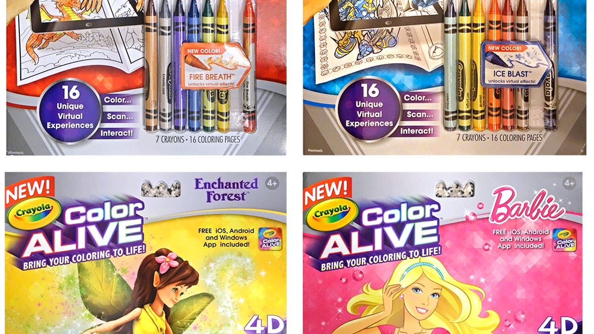 Crayola\'s New Coloring Books Bring Your Creations To Life With an App