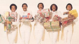Back cover of the Temptations' Give Love at Christmas albumMotown