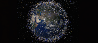 Illustration for article titled Scientists Propose a Laser for the ISS to Vaporize Space Junk