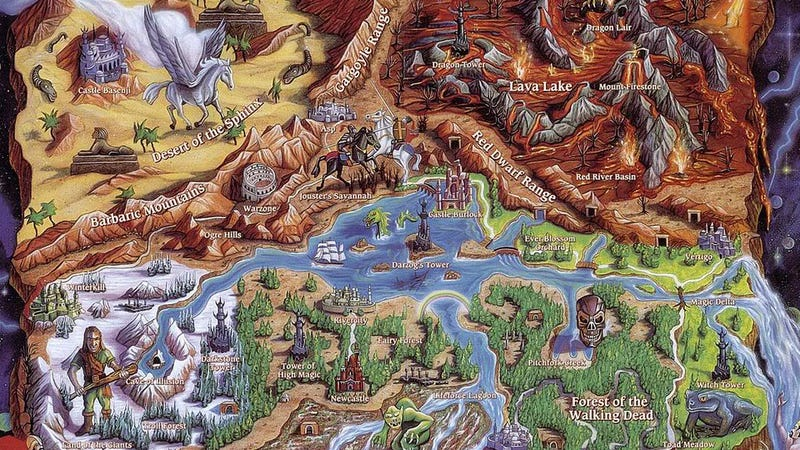 Illustration for article titled A Tribute to Old Video Game Maps