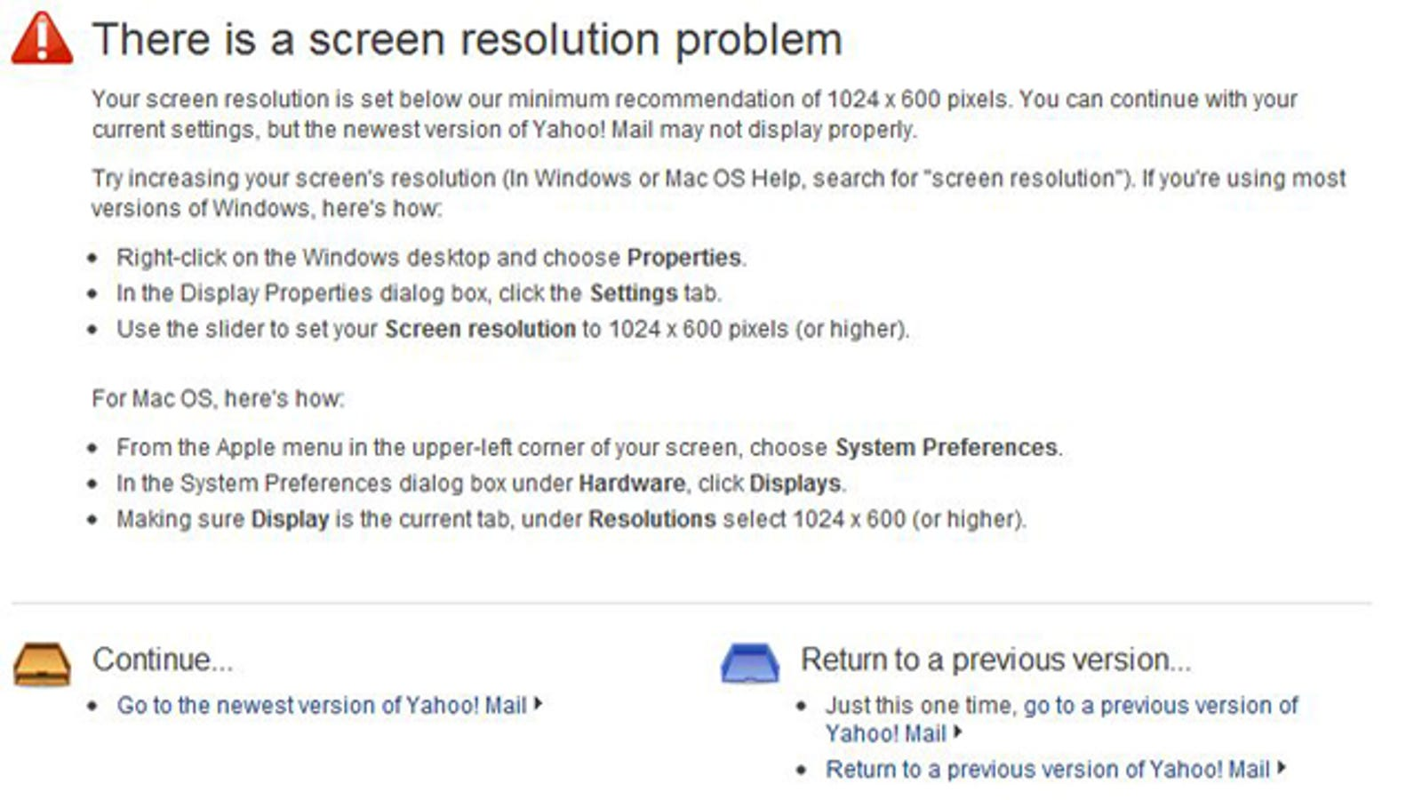 Revert yahoo mail back to the previous version ccuart Choice Image
