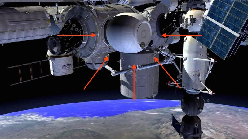 BEAM concept art via NASA (arrows added by Gizmodo)