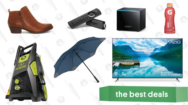 "Illustration for article titled Tuesday's Best Deals: Amazon Fire TV, Vizio 65"" 4K TV, Gatorade, & More"