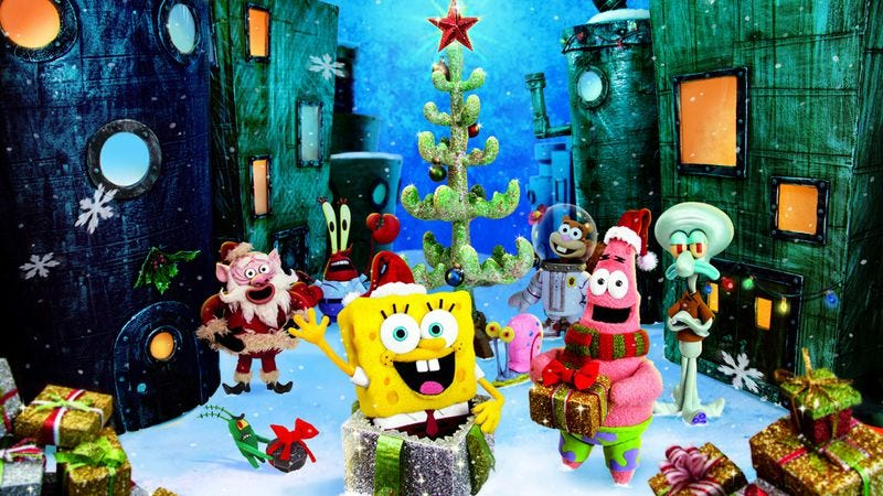Illustration for article titled It's A SpongeBob Christmas!