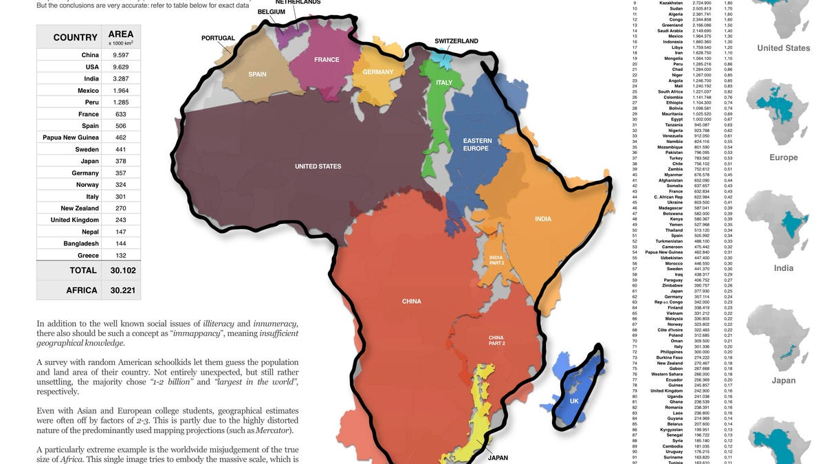 Africas true size will blow you away gumiabroncs Choice Image