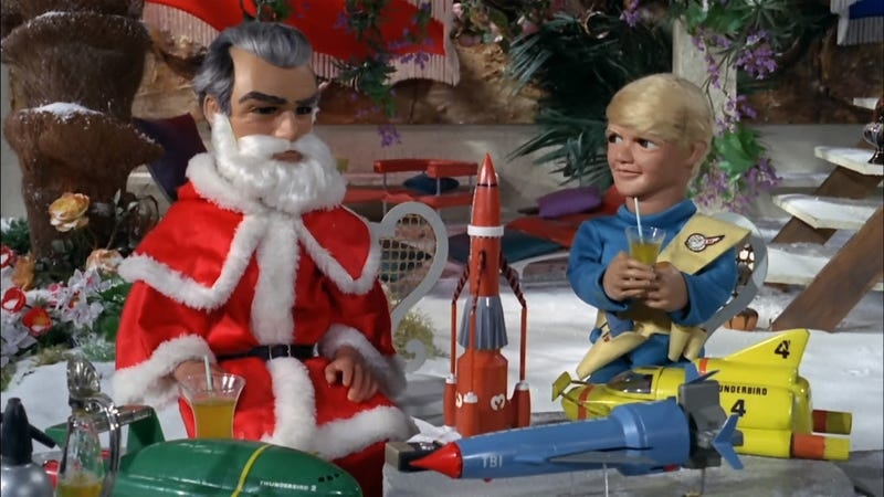 Jeff Tracy becomes Santa to reveal all the secrets of International Rescue to a boy with a terminal disease. Happy Christmas.
