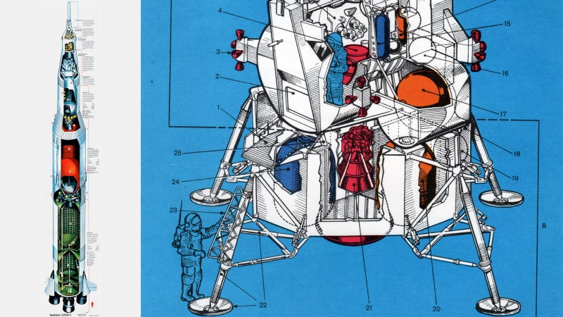 Illustration for article titled The definitive Saturn V cutaway you always wanted on your wall