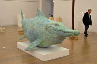 Illustration for article titled Life size replica of the Sharkodile: Half shark, half crocodile!