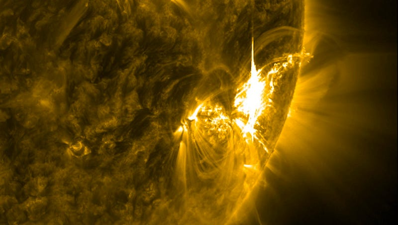 A solar flare seen on our Sun / NASA
