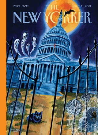 Illustration for article titled Speaking of retro Halloween: I am digging this New Yorker Cover