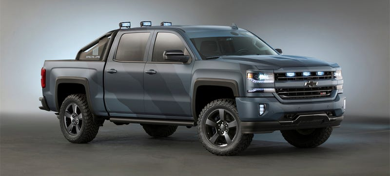 Illustration for article titled Chevy Is Really Making TheSpec Ops Silverado And It's A Great Idea