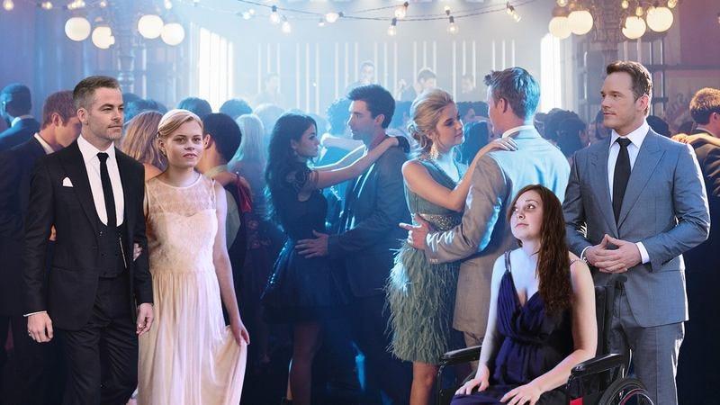 Chris Pine and Chris Pratt at prom.