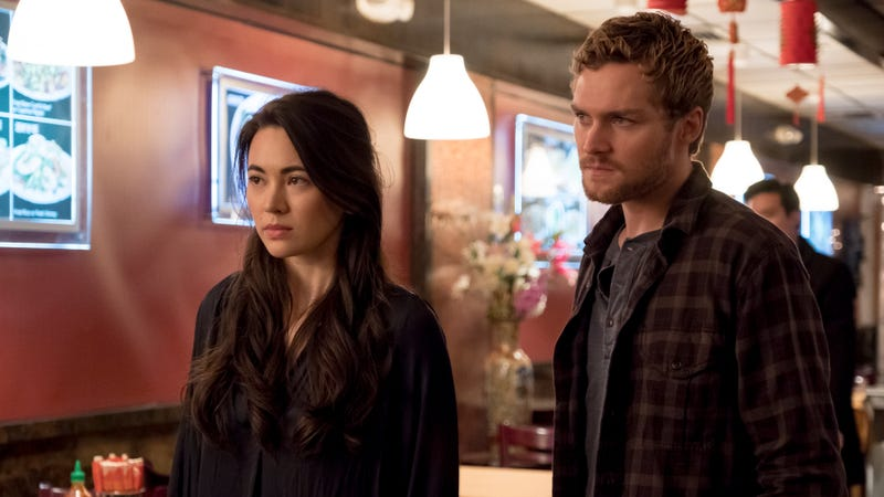 Jessica Henwick as Colleen Wing and Finn Jones as Danny Rand in Iron FIst's second season.