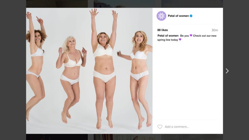 Illustration for article titled Feminism FTW: This Amazing Body-Positive Instagram Ad Campaign Is Empowering Women To Buy A Bra That Costs $95