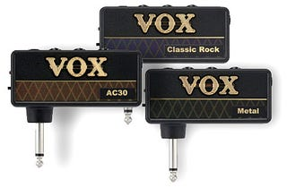Illustration for article titled Vox amPlugs, for Guitar Players on the Run