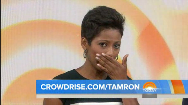 Illustration for article titled Tamron Hall Breaks Down In Tears Discussing Domestic Violence on Today