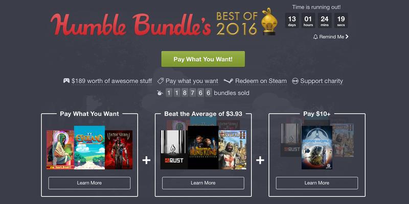 Humble Best of 2016 Bundle