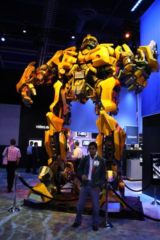 Illustration for article titled Bumblebee Comes to CES: Dolby Gives Wert a Robogasm
