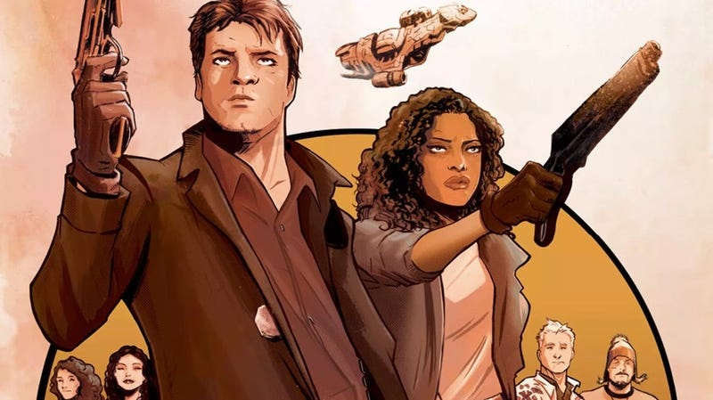 A crop of the cover of Boom Studios' Firefly #1 by Lee Garbett.