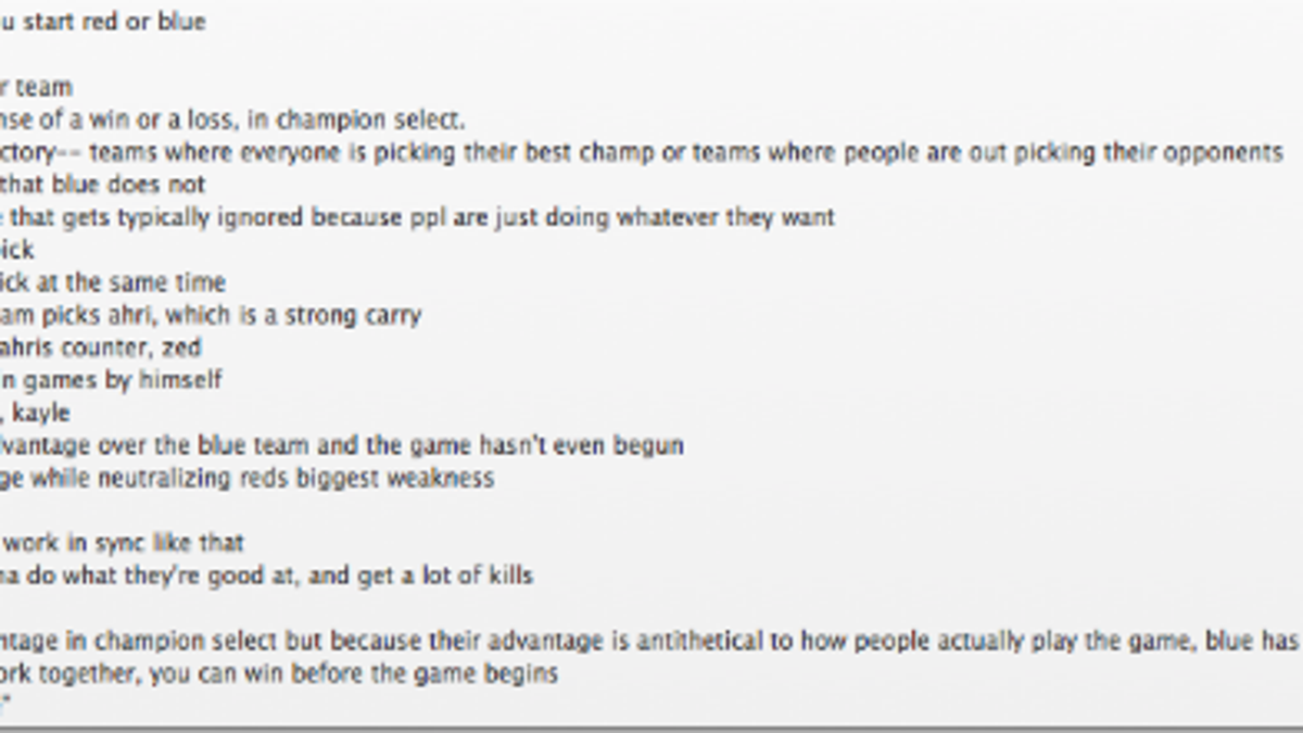 Yes, The Blue Team Has An Advantage In League of Legends