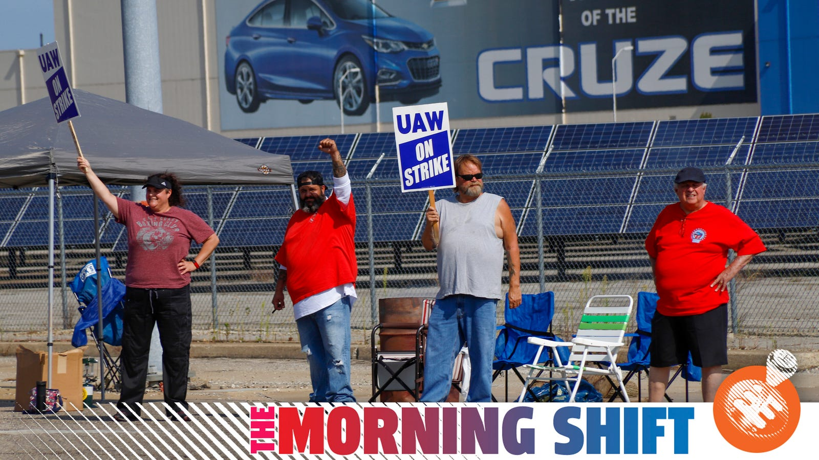 GM And The UAW Workers On Strike Settle In For A Long Fight