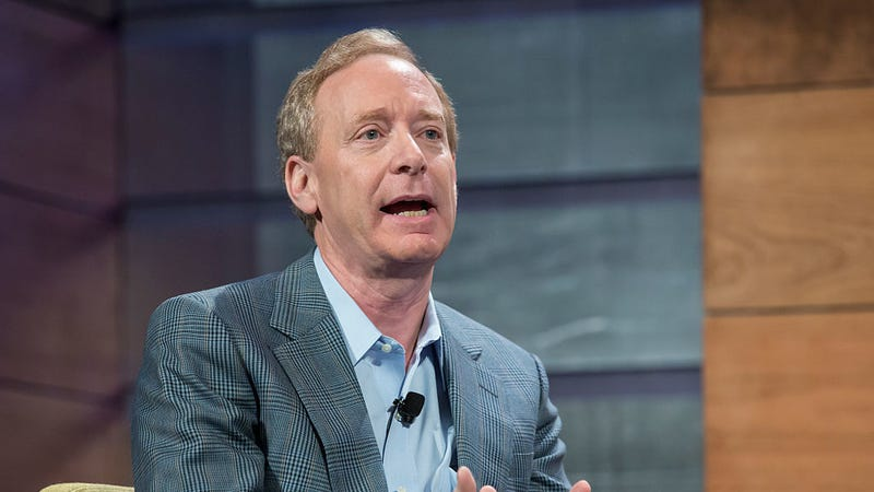 Microsoft's Brad Smith speaks during the Microsoft Annual Shareholders meeting. Photo: Getty