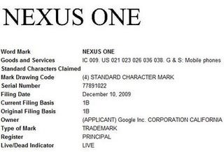 """Illustration for article titled Google Applied for """"Nexus One"""" Trademark"""