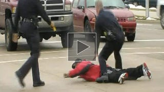 Illustration for article titled Police taser man in craziest video you'll see today