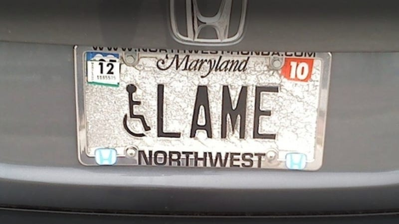 Illustration for article titled Maryland Is Cracking Down On Vanity Plate Humor