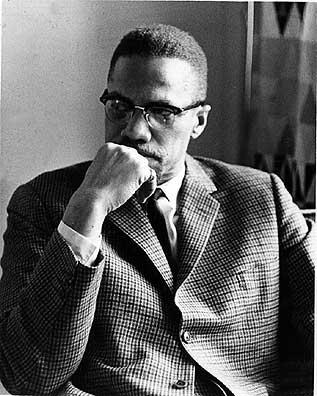 Malcolm X with Saudi Arabia's King Faisal in 1964