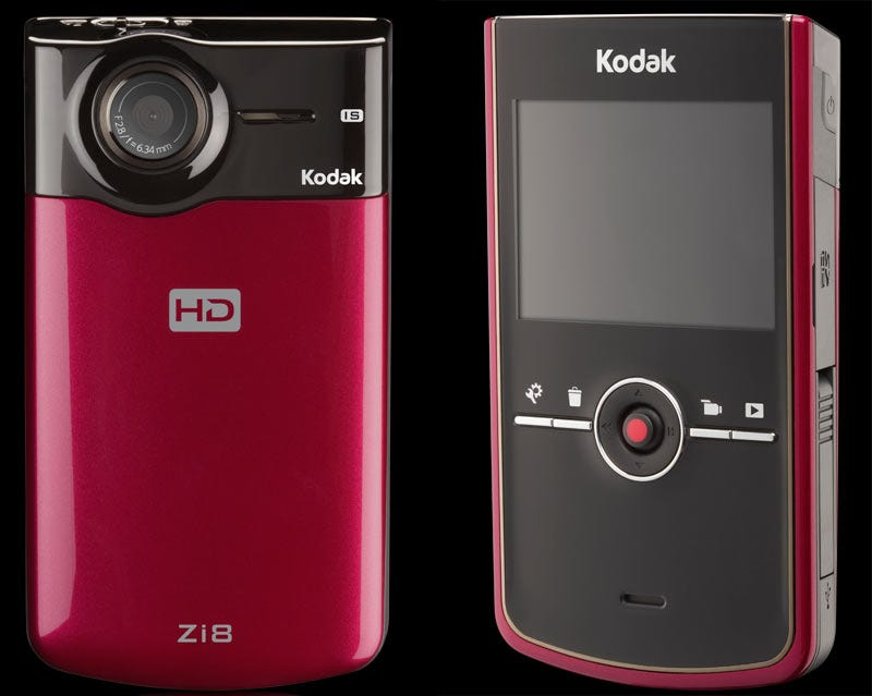 Illustration for article titled Kodak Zi8 Wallops Flip With 1080p, Image Stabilizer and SD Slot
