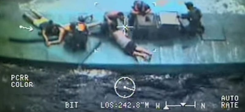 Illustration for article titled Watch The Coast Guard Make The Biggest Narco Submarine Coke Bust Ever