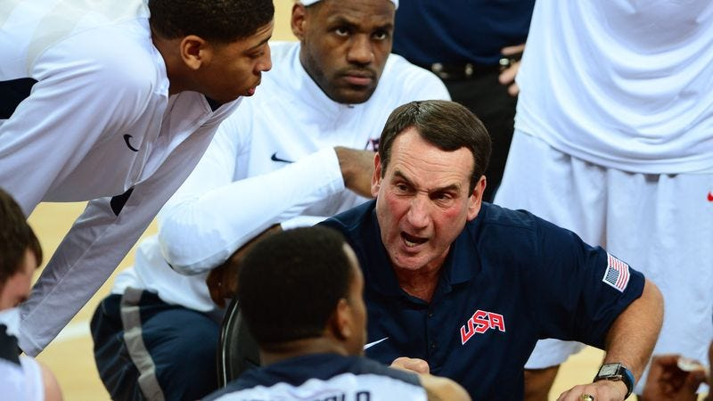 Illustration for article titled Mike Krzyzewski Leads Ragtag Band Of Rejects To Olympic Gold