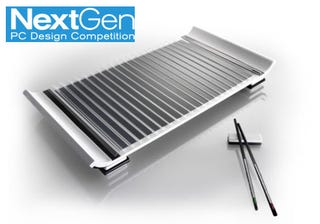 Illustration for article titled Next-Gen PC Concepts Include Laser Screens, Tactile Interfaces, Glossiness