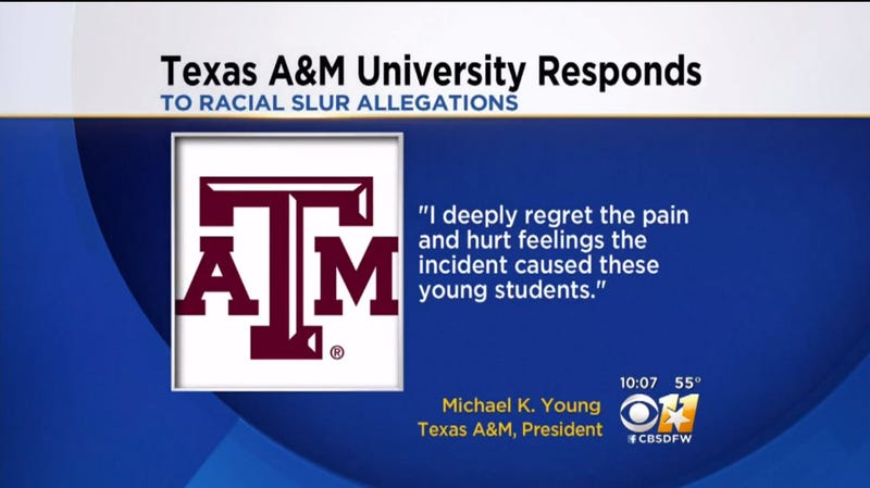 Illustration for article titled Texas A&M Students Reportedly Shout Racial Slurs at Visiting Black High Schoolers