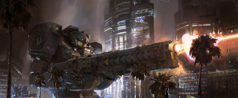 Illustration for article titled Japan Won WW2, And Now Rules America With Giant Mechs