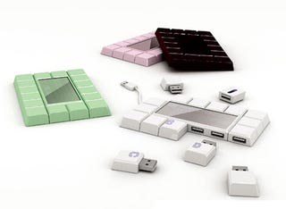 Illustration for article titled Chocolate Bar USB Drive Concept Does Not Melt In Your Mouth or Your Hand