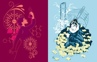 Illustration for article titled Marie Curie and Ada Lovelace t-shirts: Put some lady science heroes on your chest