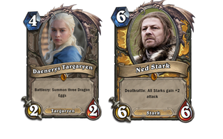 Illustration for article titled Game of Thrones Characters Would Break Hearthstone