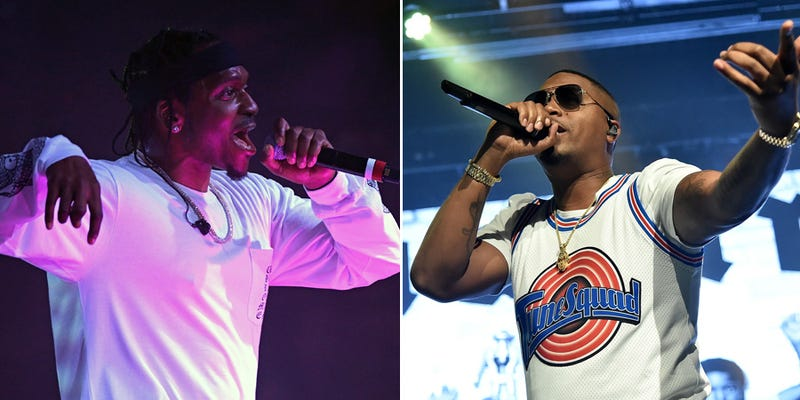 Pusha T (Photo: Ethan Miller/Getty Images) and Nas (Photo: Mike Coppola/Getty Images for iHeartRadio)
