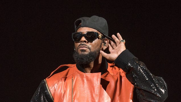 R. Kelly performing at Barclays Center on Sept. 25, 2015, in the Brooklyn borough of New York City