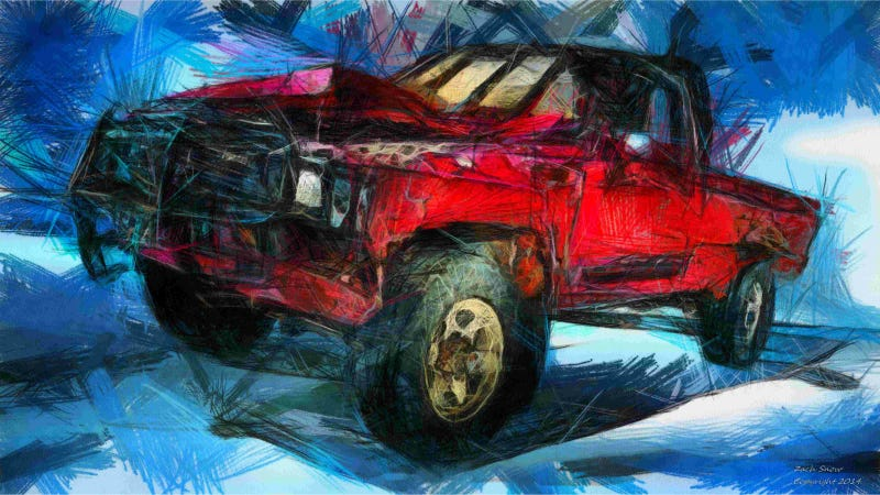 Illustration for article titled Automotive Artist Draws Funky Renditions Of Some Favorite Trucks